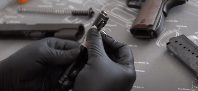 cleaning a 1911 barrel