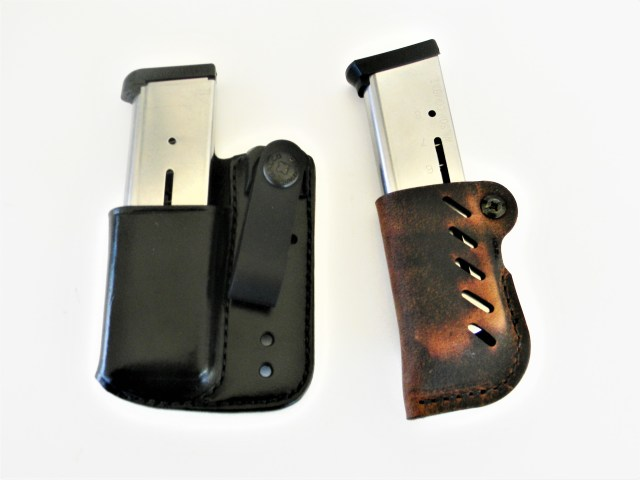 spare handgun magazines in magazine carriers for concealed carry