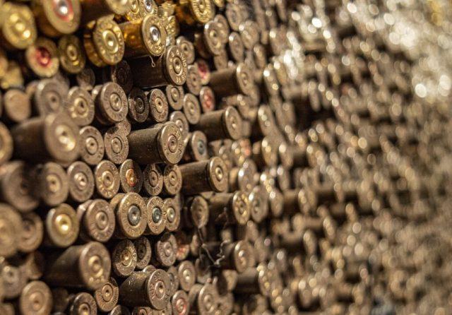 large pile of ammunition