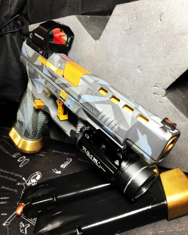 customized grey and gold sig p320