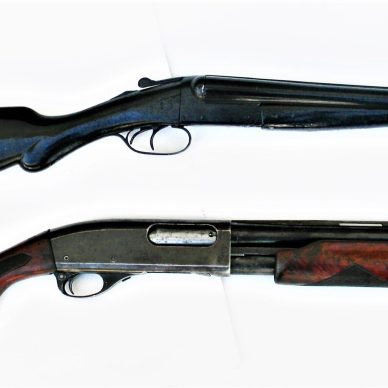double-barrel and pump-action shotguns