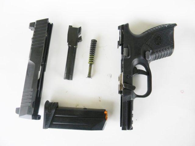 Disassembled FN 509 pistol