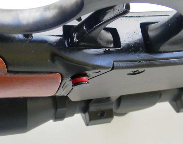 lever-action rifle with safety