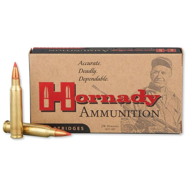 Hornady .223 Rem Ammo Box and varmint cartridges