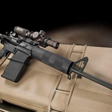 AR-15 Rifle on Tan Case