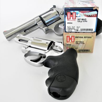 Revolvers with Hornady Ammo Boxes