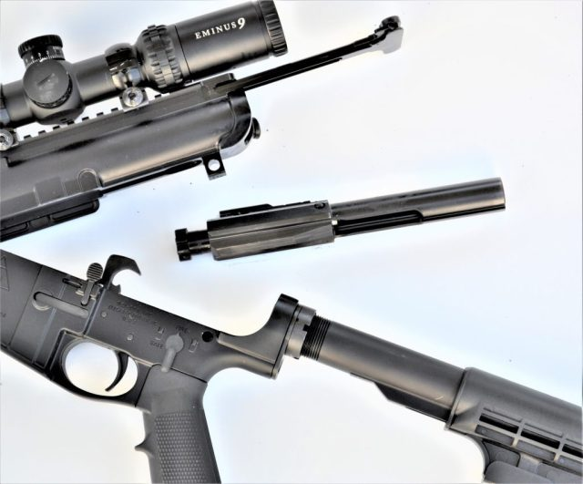 AR-15 Disassembled bolt and receivers