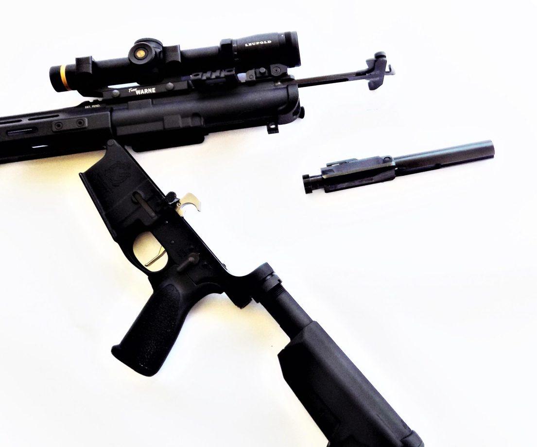 disassembled AR-15