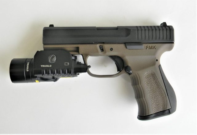 FMK 9C1 G2 Semi-auto pistol and weapon light