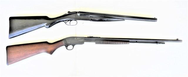 double-barrel shotguns and pump-action .22 rifle apocalypse guns