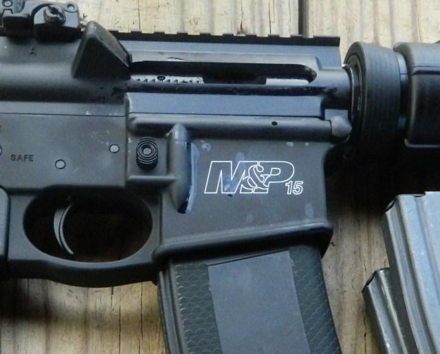 Close up of S&W AR-15