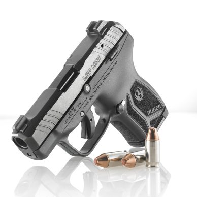 Ruger LCP MAX pistol with ammo