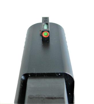 TruGlo front sight on a Glock slide