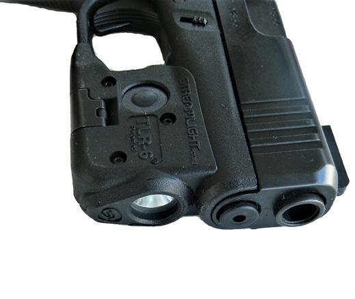 Streamlight TRL 6 weapon light mounted on a Glock pistol