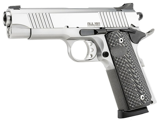 Magnum research bul 1911 .45 ACP pistol stainless-steel left profile