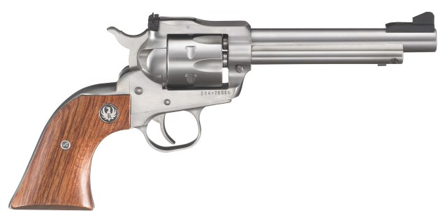 Ruger single six stainless-steel revolver right profile