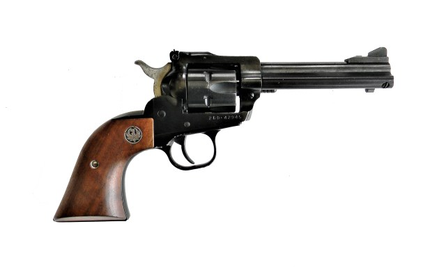 Ruger Single Six pistol with wood grip, right profile