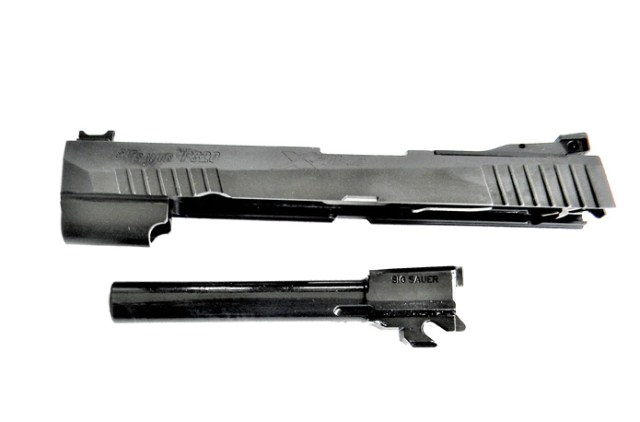 Slide and barrel of the Sig P320 X Five