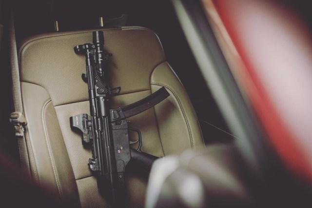 HK SP5 on car seat