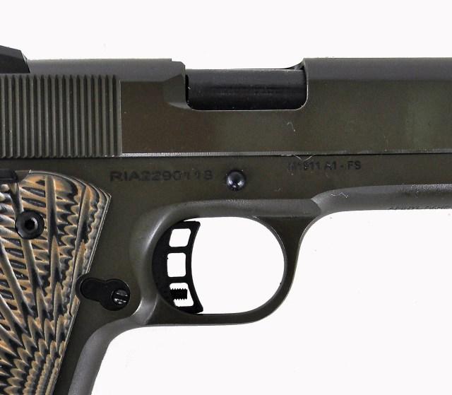 ejection port on a rock island armory 1911a1 fs pistol
