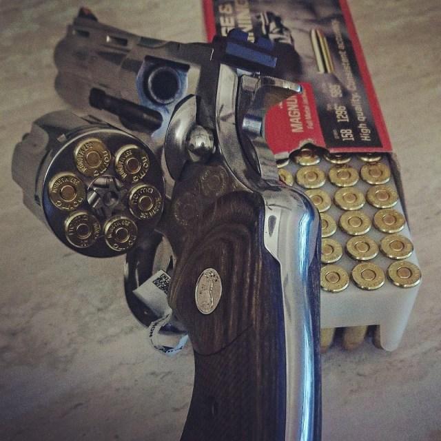 Colt Python and box of ammo