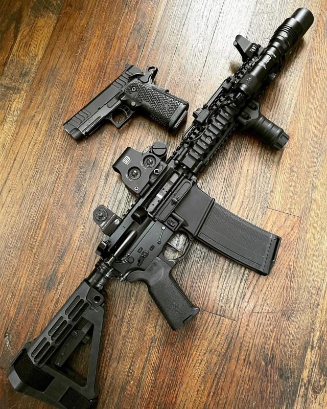 AR-15 and Sticcato pistol