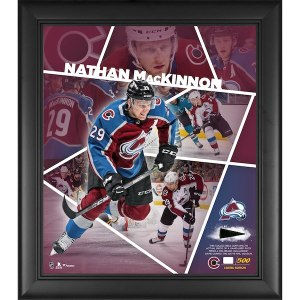 Colorado Avalanche Nathan MacKinnon Fanatics Authentic Framed 15'' x 17'' Impact Player Collage with a Piece of Game-Used Puck - Limited Edition of 500