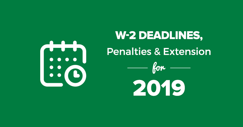 Printable W2 Form 2020.W 2 Deadlines Penalties Extension For 2019 2020