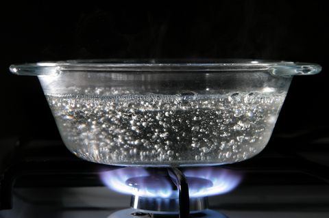 Picture of clear boiling pot