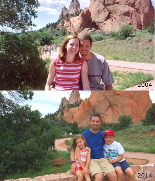 Garden of the Gods then and now