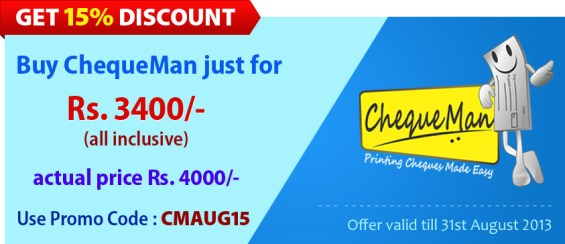 ChequeMan Offer !!!!