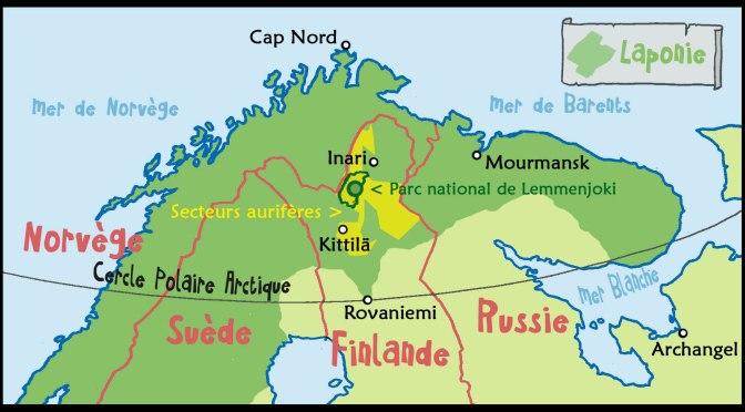 Chercher de l'or en Laponie