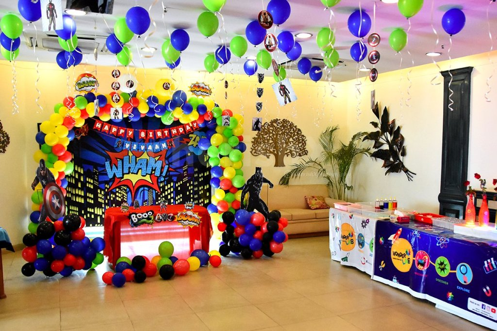 Consider these 7 theme surprise party for your child's birthday-avengers theme party