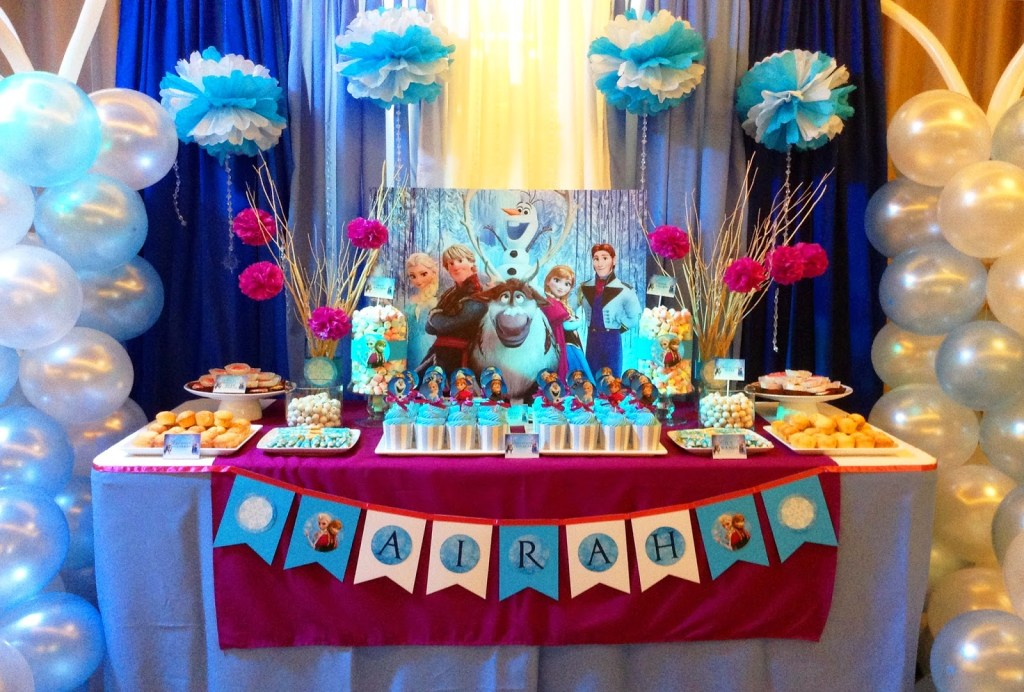 Consider these 7 theme surprise party for your child's birthday-frozen