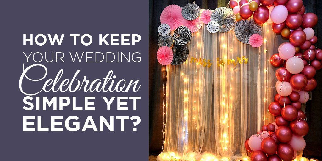 wedding celebration simple yet elegant