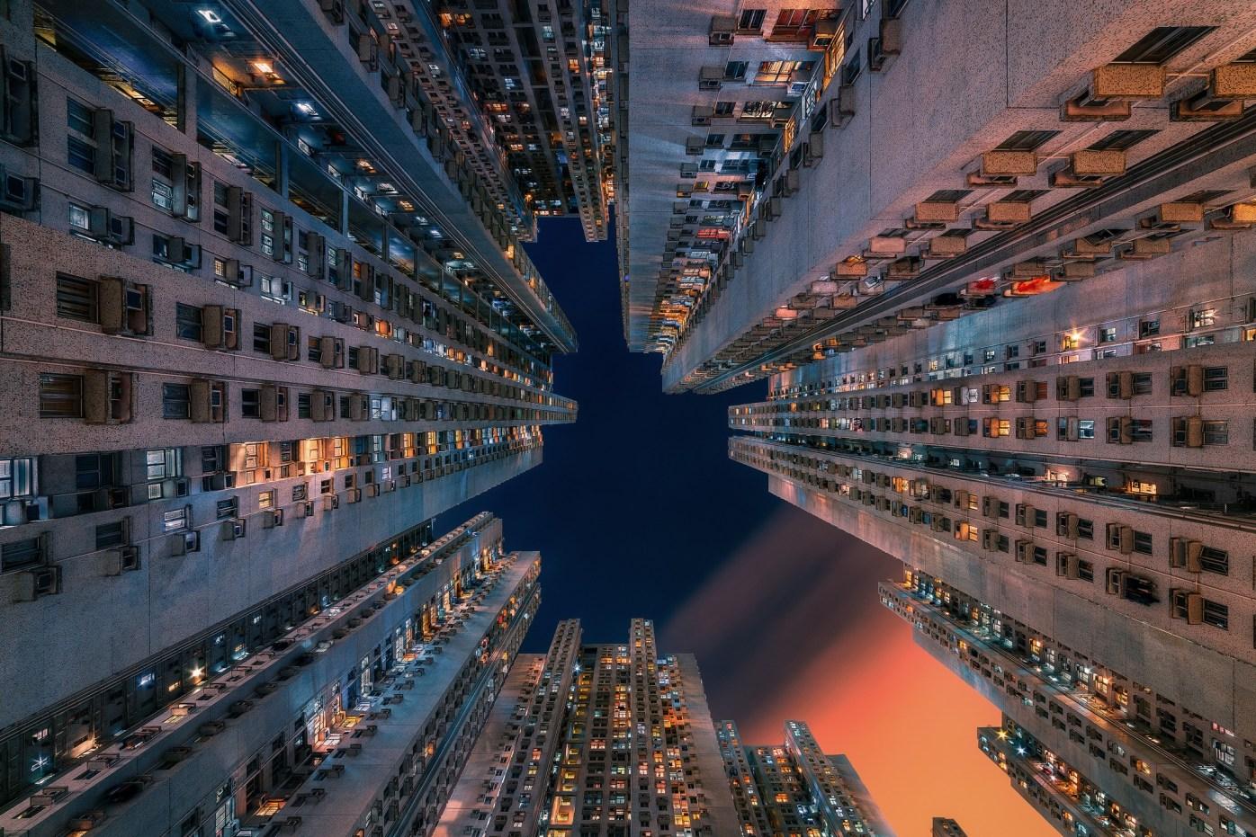 Utopia -Apartment blocks in Tseung Kwan O, Hong Kong