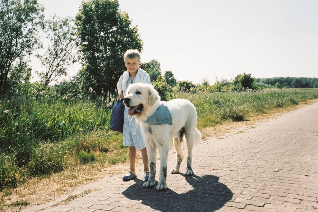 Florian Schueppel 35mm boy and big dog
