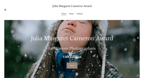 Julia Margaret Cameron Award photography competitions