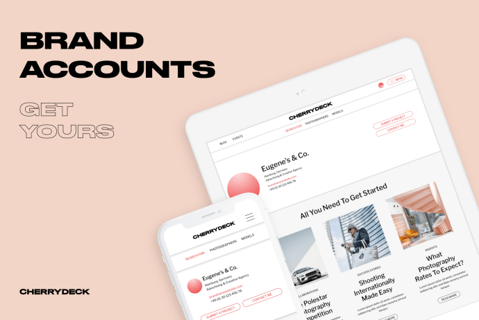 Brand Accounts on Cherrydeck Launch