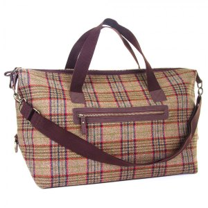 Iris tweed luggage bag