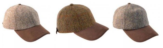 harris tweed baseball cap