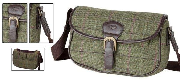 Hoggs of Fife Caledonia tweed cartridge bag