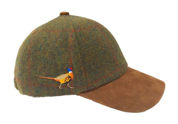 tweed pheasant baseball cap