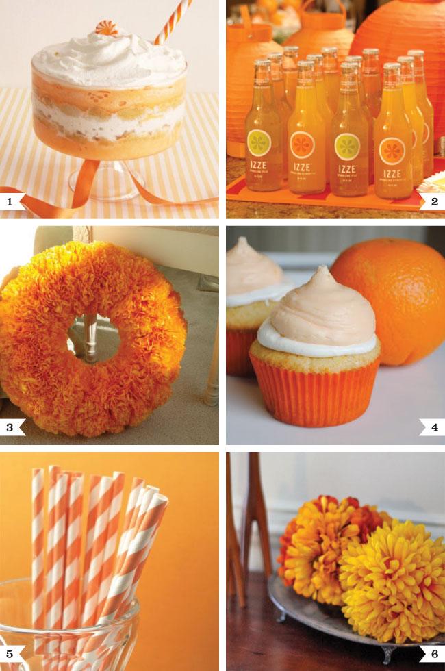 orange party ideas chickabug