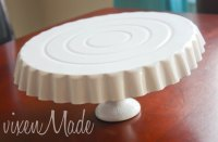 DIY dollar store cake stand | Chickabug