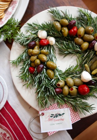 Holiday olive wreath by Julia M. Usher