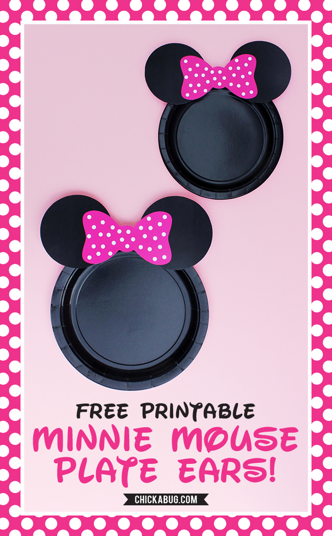 Free Printable Minnie Mouse Ears For Plates Hot Pink