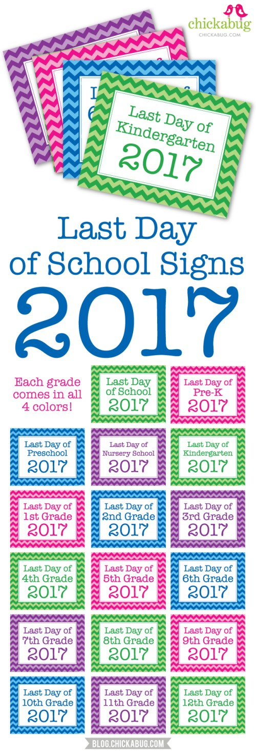 small resolution of 2017 Printable Last Day Of School Sign - Clipart Library •