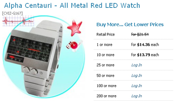 Low LED watch price