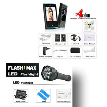cell phone vs flashmax flashlight copy